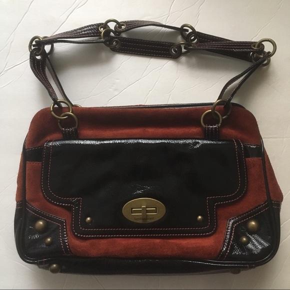 Hayden and Harnett Handbags - Hayden Harnett Suede/Leather 2 strap shoulder bag